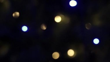 HD 1080 video of bokeh on dark background christmas light background vintage — Stock Video