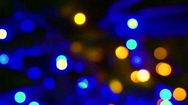 Magical Christmas light blur circles Background depth — Stock Video