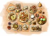 Breakfast illustration — Stock Photo