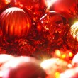 Red and gold christmas ornaments background — Stock Photo #59696781