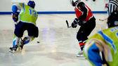 Gioco di hockey su ghiaccio — Foto Stock