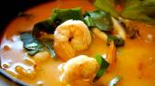 Tom yum kung soup — Stock Photo
