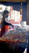 Thai sausage bbq in local market — Foto Stock