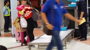 Airport security check bags — Stock Video