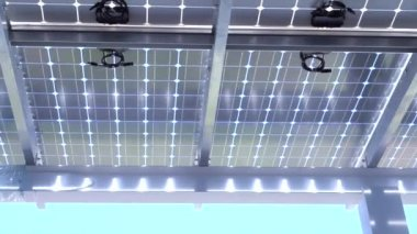 Solar cell roof — Stock Video