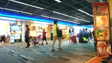 People in Don Meung Airport — Stock Video