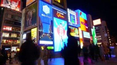 Glico billboard Osaka landmark — Stock Video