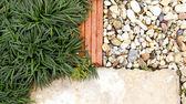 Garden path stone and grass — Stock Photo