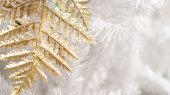 Gold and white christmas elements — Stock Photo