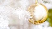 Золотые и белые рождественские элементы — Стоковое фото