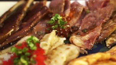 Japanese food set — Stock Video