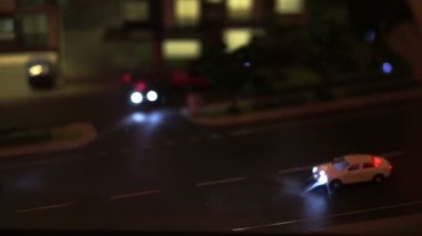 Video of Urban life model, traffic and life in in the city. Car and condominium — Stock Video