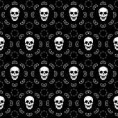 Brown Skull Pattern — Stock Vector