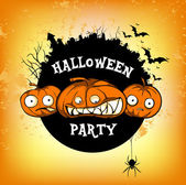 Poster halloven party — Stock Vector