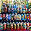 Colorful Russian nesting dolls matreshka at the market. Matriosh — Stock Photo #52555253