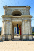 Victory Arch in National Assembly Square, Chisinau, Moldova. Th — Stock Photo