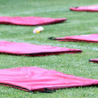 Mattresses on the field during the training of PAOK in Thessalon — Stock Photo #52566391