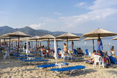 Very Crowded Beach Full Of People At Iraklitsa Beach, in Kavala — Stock fotografie
