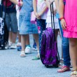 Students with their backpacks. First Day of school for the stude — Stock Photo #53931747
