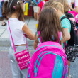Students with their backpacks. First Day of school for the stude — Stock Photo #53933207