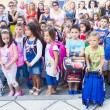Students with their backpacks. First Day of school for the stude — Stock Photo #53934487