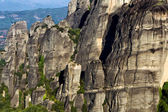 Big rocks on the mountains in Meteora, Greece.  — Stock Photo