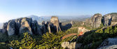 Panoramic view of the mountains in Meteora, Greece. — Stock Photo