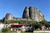 Kastaraki of Meteora, in Greece. The village of Kastaraki locate — Stock Photo