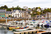 The marina at Binic, France. Binic is a seaside town in Brittany — Stock Photo