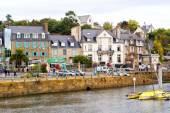 The harbor at Binic, France. Binic is a seaside town in Brittany — Stock Photo