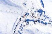 Aerial View of Ski Resort Falakro, in Greece. — Stock Photo
