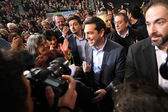 Alexis Tsipras leader of the Coalition of the Radical Left (SYRI — Stock Photo
