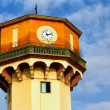 Old tower with large clock  in the square Halastra in thessaloni — Stock Photo #64019811