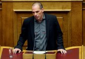 Finance Minister Yanis Varoufakis of Greece — Stock Photo