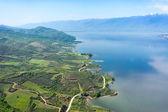 北ギリシャで人工の湖 Kerkini の空撮 — ストック写真