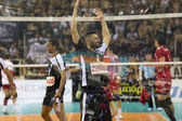 PAOK VS OLYMPIACOS GREEK VOLLEYLEAGUE FINALS — Stock Photo