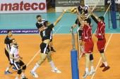Finales de volleyleague griego paok vs olympiacos — Foto de Stock