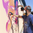 Painters graffiti during the course of Street Art Festival Thess — Stock Photo #75693785