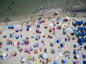 Aerial view of beach in Katerini, Greece. — Stock Photo