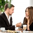 Man making proposal to his girlfriend at the restaurant — Stock Photo #57599759