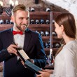 Sommelier in the wine cellar — Stock Photo #58199845