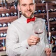 Sommelier in the wine cellar — Stock Photo #58201099