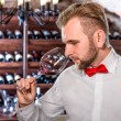 Sommelier in the wine cellar — Stock Photo #58201571
