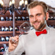 Sommelier in the wine cellar — Stock Photo #58201799