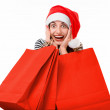 Young woman with shopping bags on Christmas — Stock Photo #59226707