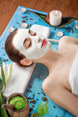 Woman with spa mask — ストック写真