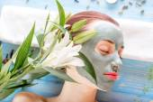 Woman with spa mask — Stock fotografie
