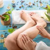Woman taking spa procedures — Stock Photo