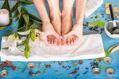 Legs care in spa — Stock Photo
