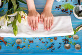 Hands care — Stock Photo